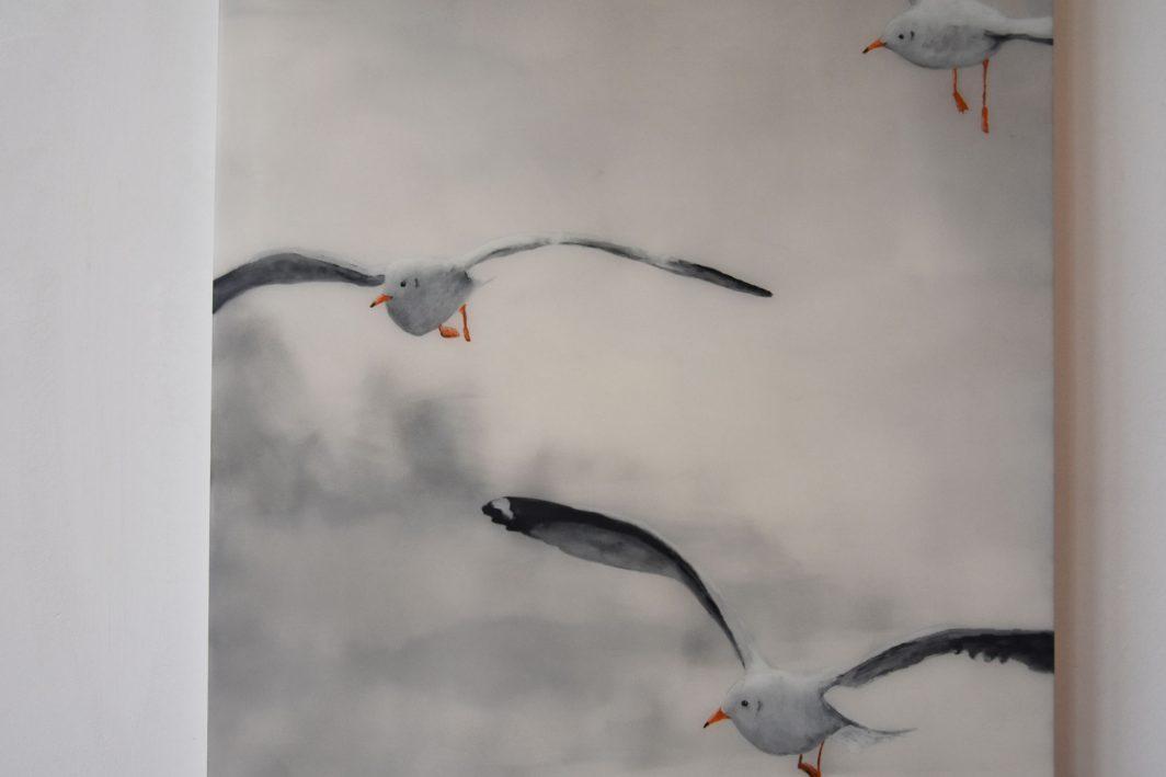 Seagulls Schilderij Painting Artwork Kunstwerk Kay Sleking