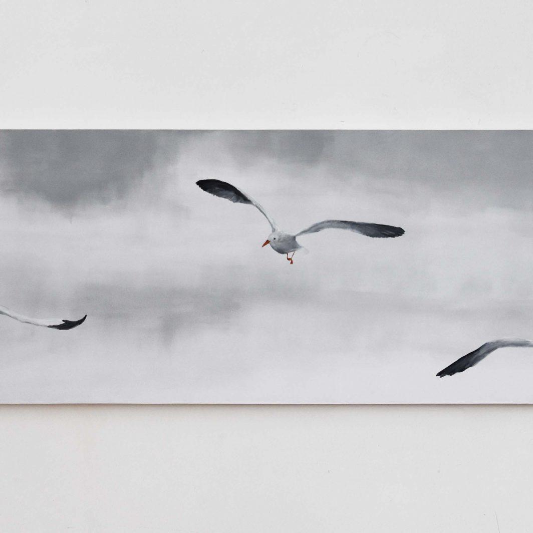 Flight of Gulls Artwork Kunstwerk Schilderij Painting Kay Sleking
