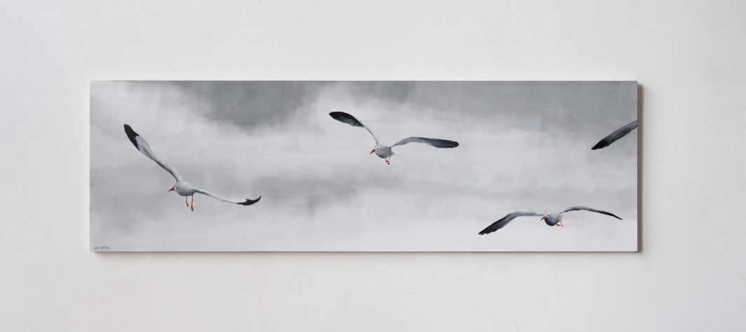 Flight of Gulls Artwork Kunstwerk Schilderij Painting Kay Sleking