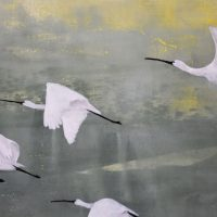 Schilderij Lepelaars Kunstwerk Kay Sleking