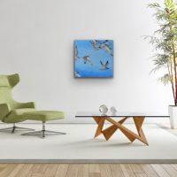 Flight of Terns Artwork Kunstwerk Schilderij Painting