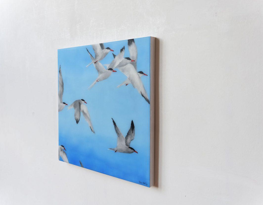 """""""Flight of Terns"""" Artwork Kunstwerk Schilderij Painting"""
