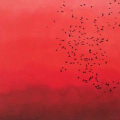 """""""Flight of Starlings"""" Schilderij Painting Artwork Kunstwerk Kay Sleking"""